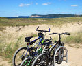 Sleeping Bear Dunes Biking Royalty Free Stock Image