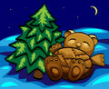 Sleeping  bear toy Royalty Free Stock Photography