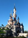 Sleeping beauty castle disney s at disneyland paris france on a beautiful autumn day Royalty Free Stock Image