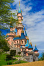 Sleeping Beauty castle at Disneyland Paris, Eurodisney Editorial. Photo stock.