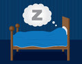 Sleeping in Bed Royalty Free Stock Images