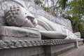 Sleeping  Buddha at the Long Son Pagoda in Nha Trang Royalty Free Stock Photo