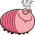 Sleeping cartoon grub a illustration of a Royalty Free Stock Image