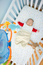 Sleeping in Crib time Stock Image