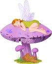 Sleeping elf Royalty Free Stock Photo