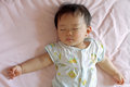 Sleeping Japanese baby boy Royalty Free Stock Photo