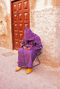 Sleeping maroccan man in the streets of marrakech morocco Royalty Free Stock Photos