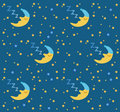 Sleeping moon & stars background Royalty Free Stock Photography