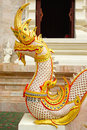Sleeping naga thai art showing of traditional sculptured chiangrai thailand Stock Image