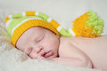 Sleeping newborn Royalty Free Stock Photos