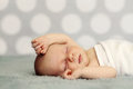 Sleeping newborn baby Royalty Free Stock Photos
