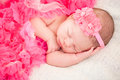 Sleeping newborn baby age days Royalty Free Stock Photo