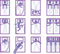 Sleeping positions Stock Image