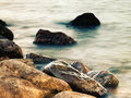 Sleeping sea abstract natural landscape for your design Stock Images