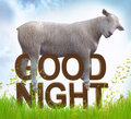 Sleeping sheep or lamb illustration Stock Photo