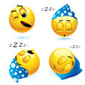 Sleeping smiley Royalty Free Stock Photo