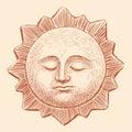 Sleeping sun Royalty Free Stock Photo