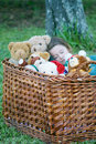 Sleeping with teddy Royalty Free Stock Images