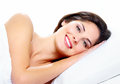 Sleeping woman beautiful in the bedroom relax Stock Image