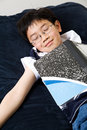 Sleeping young student Royalty Free Stock Photos