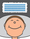 Sleeping zs person with thought bubble of z Royalty Free Stock Images