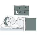 Sleepless Night Royalty Free Stock Photo