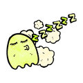 Sleepy ghost cartoon Stock Photos
