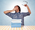Sleepy student Royalty Free Stock Images