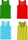 Sleeveless tank tops set of vector illustration Royalty Free Stock Images