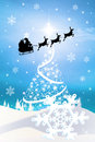 Sleigh de santa claus Photo libre de droits