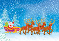 Sleigh of Santa Claus Royalty Free Stock Photo