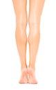 Slender beautiful female legs rear view Royalty Free Stock Photo