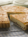 Slice of Bakewell Tart Stock Images