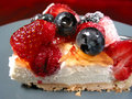 Slice of berry cake on a plate Stock Photography
