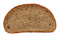 Slice of bread photo isolated on white background Royalty Free Stock Photography