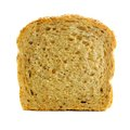 Slice of bread single whole grain isolated on white Royalty Free Stock Photography