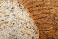 Slice of brown bread Stock Photos