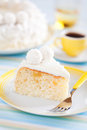 Slice cake with pineapple and white chocolate Stock Image