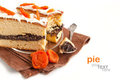 Slice of cake with poppy seeds Stock Photos