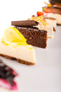 Slice of cake selection delicious tart choice Royalty Free Stock Images