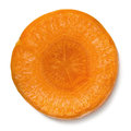 Slice of Carrot Isolated Stock Photography