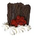 Slice of Chocolate Layer Cake Royalty Free Stock Photo
