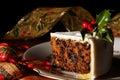 Slice Of Christmas Cake Royalty Free Stock Photo