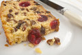 Slice of Coconut Fruit Cake Stock Images