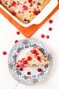 Slice of cranberry pie on a plate Royalty Free Stock Images
