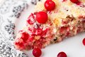Slice of cranberry pie on a plate Royalty Free Stock Photos