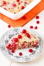 Slice of cranberry pie on a plate Royalty Free Stock Photography