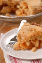 Slice of deep dish apple pie Royalty Free Stock Photography