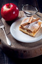 Slice of delicious apple pie photo Stock Images