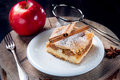 Slice of delicious apple pie photo Royalty Free Stock Images